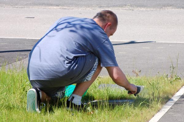 nettoyage de l'herbe